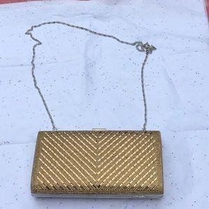 Gold sparkle evening bag